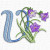 Free Embroidery Design: Meadowy Flower Font – Letter V