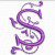 Free Embroidery Design: Purple Heart Font – Letter S