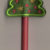 Free Embroidery Design:  Christmas Tree Pencil Topper