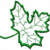 Free Embroidery Design:  Leaf Applique