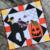 Free Quilt Pattern:  Kitten's Halloween Party