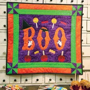 Free Quilt Pattern Boo,tacular Halloween Applique Wall