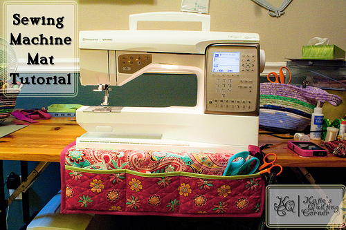 Free Sewing Tutorial Sewing Machine Mat I Sew Free