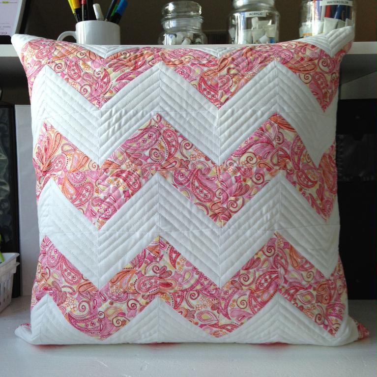 Free Quilt Pattern Chevron Pillow I Sew Free