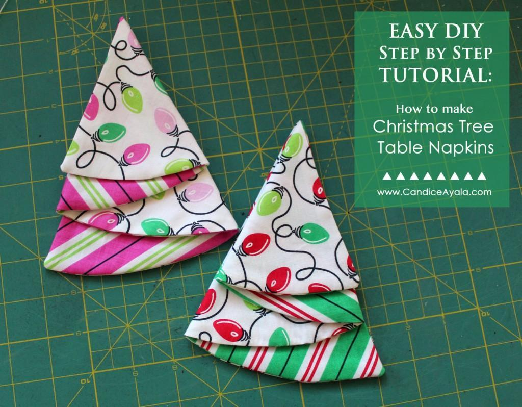 Free Sewing Pattern Christmas Tree Napkins I Sew Free