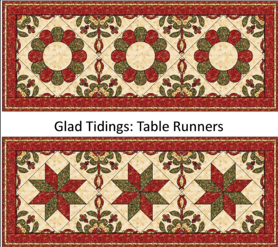 Christmas Runner Quilt Pattern.Free Quilt Pattern Glad Tidings Christmas Runner I Sew Free