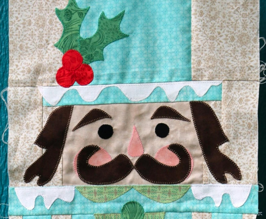 Christmas Quilt Patterns.Free Quilt Pattern Nutty Christmas Row I Sew Free