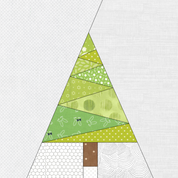 Christmas Tree Table Runner Quilt Pattern: Free Quilt Pattern: Geometric Christmas Tree Paper Pieced