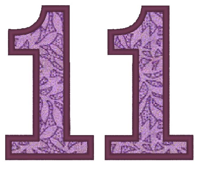Free Embroidery Design: Applique Number 11 • I Sew Free