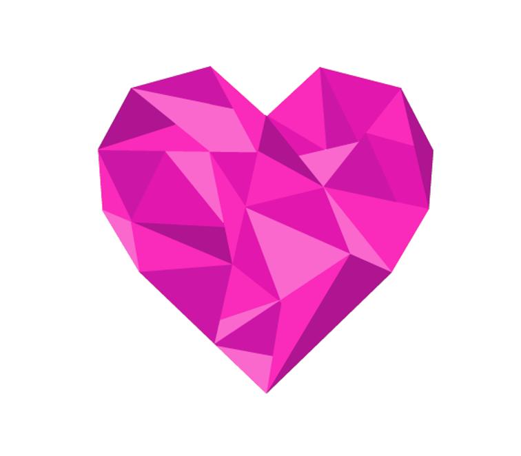 Free Quilt Pattern: Geometric Heart