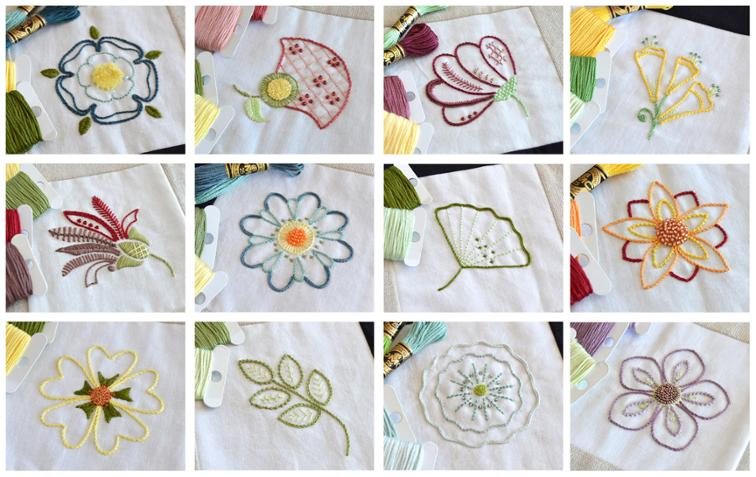 photograph relating to Free Printable Embroidery Patterns by Hand referred to as No cost Flower Types For Hand Embroidery - Bouquets Balanced