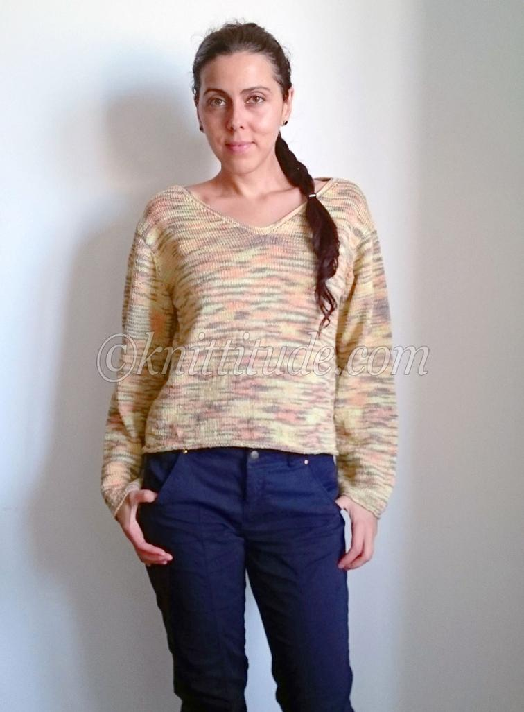 Multicolored Spring-Summer Sweater